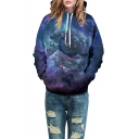 New Fashion 3D Galaxy Pattern Long Sleeve Casual Leisure Unisex Hoodie