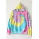 New Arrival Tie Dye Long Sleeve Casual Loose Hoodie for Couple