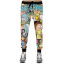 Hot Fashion Funny Cartoon Printed Drawstring Waist Leisure Sports Pants
