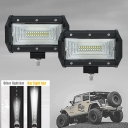 7D+ 5 Inch 150° Flood Beam CREE LED Car Light Work Light Bar for 4x4 Off Road SUV Trucks Pack of 2