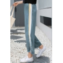 Striped Printed New Fashion Split Side Loose Leisure Wide Legs Sports Pants