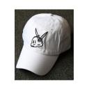 Cartoon Lovely Rabbit Embroidered Summer's Adjustable Baseball Cap