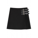 New Fashion High Waist Basic Plain Chic Mini A-Line Skirt