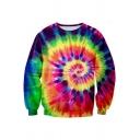 New Fashion 3D Whirlpool Pattern Long Sleeve Round Neck Pullover Sweatshirt
