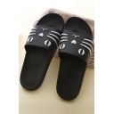 Unisex Cat Pattern Leisure Antiskid Slipper Shoes
