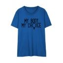 New Fashion Letter Pattern Short Sleeve Round Neck Pullover Unisex T-Shirt