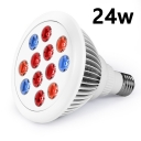 E27 24W LED Plant Grow Light Bulb 12 LEDs 600LM