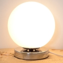 Bold And Lovely Designer Globe Table Lamps With Cream Glass - 5.9
