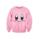 Hot Fashion Lovely Cartoon Pattern Round Neck Long Sleeve Pullover Sweatshirt
