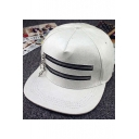 Hip Hop Street Style Chic Zip Design Unisex Outdoor Baseball Cap