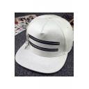 Hip Hop Street Style Chic Zip Design Unisex Outdoor Baseball Cap