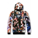 New Fashion 3D Character Printed Long Sleeve Oversize Unisex Hoodie