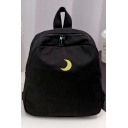 Fashion Young Style Embroidery Moon Pattern Backpack