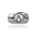 Hot Fashion Assassin's Creed Geometrical Printed Alloy Ring