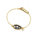 Fashion Big Eye Shape Alloy Bracelet