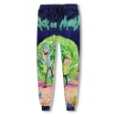Cartoon Character Printed Drawstring Waist Oversize Unisex Sports Pants