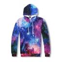 Hot Fashion Digital Galaxy Printed Long Sleeve Oversize Unisex Hoodie