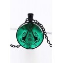 Fashion Assassin's Creed Symbol Printed Pendant Necklace