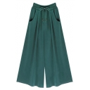 Oversize Drawstring Waist Plain Leisure Wide Legs Casual Loose Pants