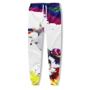Drawstring Waist Digital Horse Pattern Loose Leisure Oversize Joggers