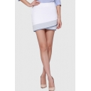 Summer's Office Lady Color Block Mini Bodycon Skirt