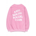 New Fashion Letter Printed Round Neck Long Sleeve Pullover Sports Sweatshirt