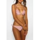 Hot Fashion Multi Straps Plain String Side Bottom Bikini Swimwear