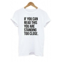 Street Style Letter Printed Round Neck Short Sleeve Unisex Pullover T-Shirt
