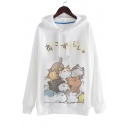 New Fashion Cute Cartoon Pattern Long Sleeve Loose Leisure Hoodie