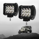 4 Inch LED Car Light Bar Spot Beam Cube Work Light Daytime Running Lamp for SUV Boat 4x4 Jeep 4WD ATV, Pack of 2