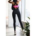 Hot Fashion Color Block Crisscross Open Back Sleeveless Slim Yoga Jumpsuits