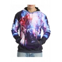 Galaxy Forest Printed Loose Leisure Long Sleeve Sports Hoodie