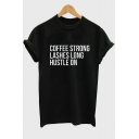 Street Style Chic Letter Print Short Sleeve Round Neck Pullover Unisex T-Shirt