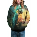 New Fashion Jungle Eagle Printed Long Sleeve Casual Leisure Unisex Hoodie