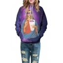 New Collection Galaxy Jesus Pattern Long Sleeve Causal Hoodie for Couple