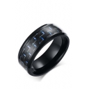 Unisex Carbon Fiber Material Stainless Steel Ring