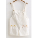 Lovely Cartoon Cat Printed Summer's Loose Leisure Overalls