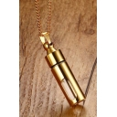 Unisex Plain Openable Bottle Pendant Necklace