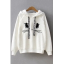 Lovely Cartoon Animal Printed Long Sleeve Leisure Hoodie