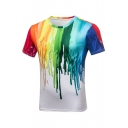 Hot Fashion Tie Dye Round Neck Short Sleeve Loose Leisure T-Shirt