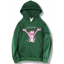 Cartoon Letter Pattern Long Sleeve Loose Fashion Casual Hoodie
