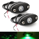 LED Rock Light for JEEP ATV SUV Off Road Trucks Boat Waterproof Rock Proof, Green Light (Pack of 2)