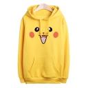 Unisex Adorable Pikachu Cartoon Printed Long Sleeve Hoodie Sweatshirt