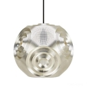 Curved Ball Pendant Light Sliver 13 Inch