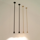 Mini linear Conical Shade Pendant Light Black