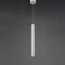 Long Cylinder Pendant Light White 11''