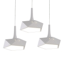 Pentagon Bottom Multi-Light Pendant White Geometric Acrylic