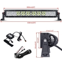 5D 22 Inch RGB Off Road LED Light Bar CREE LED 120W 60 Degree Flood 30 Degree Spot Combo Beam Car Light For Off Road, Truck, SUV, ATV, 4WD