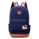 Lovely Cartoon Cat Printed Leisure Canvas Fashion School Backpack