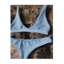 Hot Fashion Basic Simple Plain Sexy Bikini Swimwear